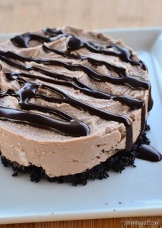 Slimming Slimming Eats Chocolate Cheesecake - Slimming World (SP) and Weight Watchers friendly - Slimming World Cheesecake, Slimming World Deserts, Slimming World Puddings, Slimming World Recipes Syn Free, Slimming World Diet, Slimming Eats, Slimming Word, Skinny Cheesecake, Weight Watchers Cheesecake