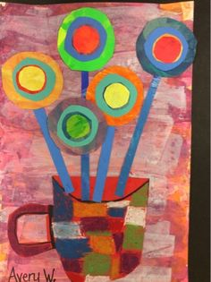 I have been studying Hundertwasser with my second grade classes. So, I picked out a few of his art pieces that we would recreate.  The B...
