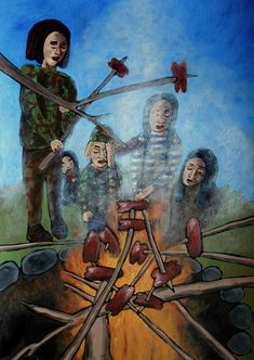 Scout Camping, Painting, Art, Art Background, Painting Art, Kunst, Paintings, Performing Arts, Painted Canvas