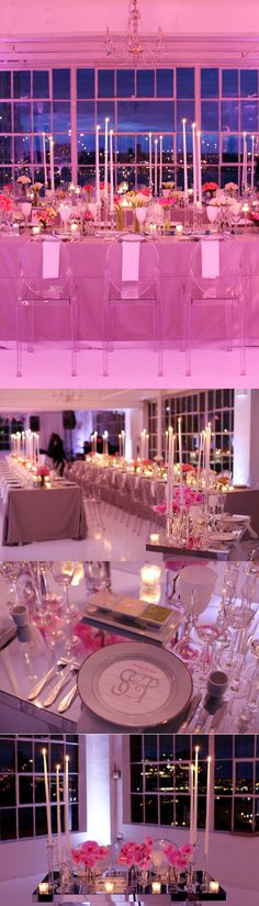 Modern loft wedding set in shades of pink!