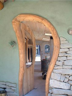 Unusual wood door