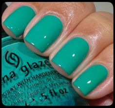 China Glaze - Four Leaf Clover (Sally Hansen - Mint Sprint, Seasational, Greenlight)