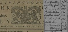 JAMES RIVINGTON:  King's Printer or Patriot Spy??
