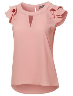 This semi-sheer chiffon blouse is perfect for the office or for going out. This breathable and light blouse features cute Going Out Dresses, Work Attire, Blouse Designs, Blouses For Women, Casual Dresses, Cute Outfits, Fashion Outfits, Sheer Chiffon, My Style