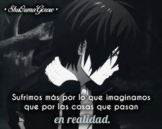 Sufrimos mas por #ShuOumaGcrow #Anime #Frases_anime #frases