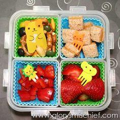 Friendly Animals Kids School Lunch