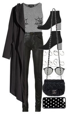 """Happy Halloween!! Xx"" by nikka-phillips on Polyvore featuring ASOS, Topshop, Christian Dior, Yves Saint Laurent, Chanel, H&M and CellPowerCases"