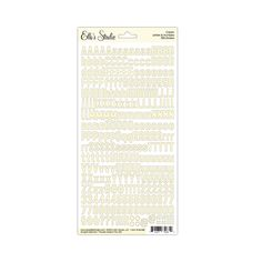 Letter & Number Stickers - Cream