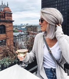 How I Got Thicker, Healthier, Silvery Grey Hair - The Daily Tay - Hair - Hair Long Gray Hair, Silver Grey Hair, Grey Blonde Hair, Lilac Hair, Pastel Hair, Green Hair, Grey Hair Care, Blue Hair, Grey Hair Bangs