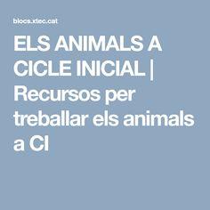 ELS ANIMALS A CICLE INICIAL | Recursos per treballar els animals a CI