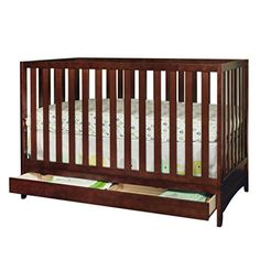 Athena AFG Mila 3-in-1 Convertible Crib with Toddler Guardrail, Espresso