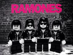 Famous Bands Recreated in LEGO - Ramones