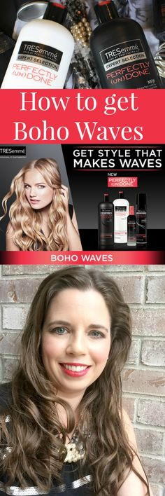 See how I got these Boho Waves for my date night!  It's easy and I take you step-by-step! http://www.beautystat.com/site/hair/hairstyle-trend-review-tresemme-perfectly-undone-collection-how-to-make-boho-waves-tutorial/ AD