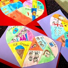 Heart Maps are a must do February art project!