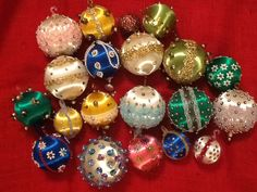 20 Handmade Vintage Christmas Ornaments by TwinsTreasureTrove, $35.00