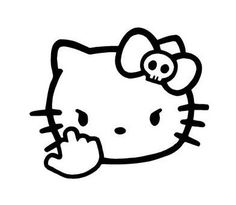 Pin By GLen On Hello Kitty Pinterest Hello Kitty Kitty And - Window decals for cars and trucksbest gambler images on pinterest hello kitty vinyl decals