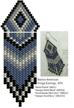 Linda's Crafty Inspirations: Playing with my Beads...Fringe Earrings #51 & #74