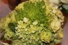 love green! green spider mums, green hydrangea, & green roses