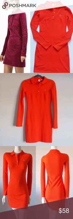 NEW LACOSTE LIVE Slim Fit Stretch Piqué Polo Dress NEW WITHOUT TAG LACOSTE  LIVE Women s Slim 5fc793e30b