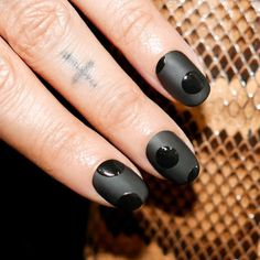 Alicia Torello Nails - A tribute to @chanelofficial 'Black Satin' since I learned it's been discontinued and my heart is broken  I also used the matte topcoat that's perfection.