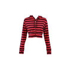 Banned Stripe Cropped red hoodie – cropped hoodies – Banned hoodys UK ($33) found on Polyvore