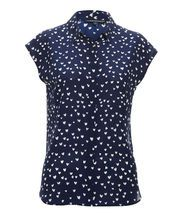 Small round/dot pattern, medium colour contrast. great for Pear, Rectangle and Hourglass body shape