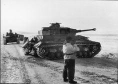 German Pz.IV.H tanks fought alongside the Hungarian troops at River Don , January 1943