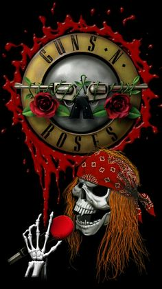 Rock Band Posters, Rock Poster, Guns N Roses, Band Wallpapers, Cute Wallpapers, Kiss Rock Bands, Axl Rose, Best Albums, Skull Art