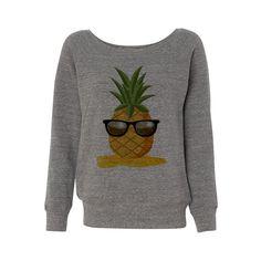 5ad4feb5820 Pineapple Man Wideneck Sweatshirt Mens Tops