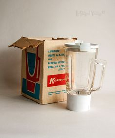 Vintage 1960s KENWOOD Chef K Liquidiser Jug Attachment A788 in Box by UpStagedVintage on Etsy