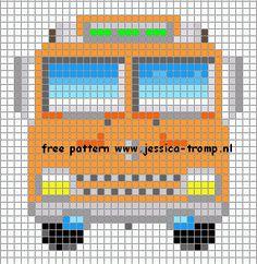 39 Free cross stitch designs cars vans tractors stitchingcharts borduren gratis borduurpatronen auto's bussen tractoren kruissteekpatronen