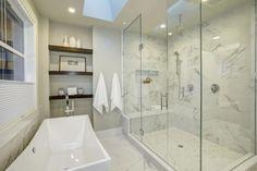 Frameless Showers | Binswanger Glass Shower Door Seal, Shower Pan, Walk In Shower, Shower Doors, Mold In Bathroom, Glass Bathroom, Glass Shower, Small Bathroom, Bathroom Marble