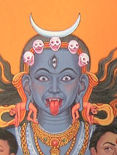 Indian Goddess, Kali Goddess, Goddess Art, Rainbow Goblins, Maa Kali Images, Kali Tattoo, Mother Kali, Kali Ma, Hindu Art