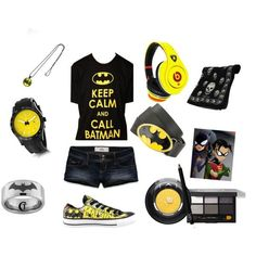 """""""Batman outfit"""" by minus the make up and head phones im good Batman Outfits, Emo Outfits, Cute Outfits, Rock Outfits, Batman Shoes, Tomboy Outfits, Friend Outfits, Party Outfits, Party Dresses"""