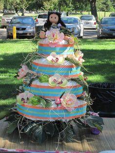 Luau Diaper Cake