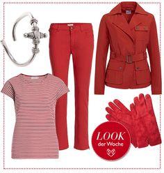 #RED #MARITIM #outfit by Brigitte von Boch #bevonboch