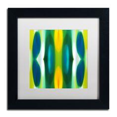Amy Vangsgard 'Forest Pattern 11 Blue' White Matte, Framed Wall Art (White Matte, Frame 11x11 (Print is 7x7))