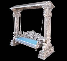 We are providing the Best Silver Furniture. Rameshwaram arts are the Silver furniture Manufacturer and supplier Company. We are offering our products of understand what it means to supply a quality product at a true value to all of our customers. Silver Furniture, Royal Furniture, Gothic Furniture, Trendy Furniture, Simple Furniture, Furniture Ideas, Temple Design For Home, Gold Sofa, Top Furniture Stores