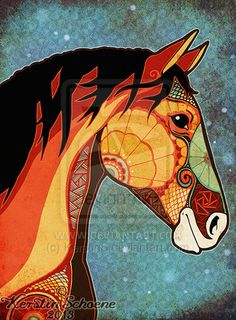digital drawing and textures _____________ © Kerstin Schoene Do not use without my permission. Horse Drawings, Art Drawings, Native American Horses, Horse Quilt, Illustration Photo, Equine Art, Horse Art, Art Plastique, Indian Art