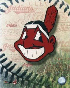 Cleveland Indians Primary Logo on Chris Creamer's Sports Logos Page - SportsLogos. A virtual museum of sports logos, uniforms and historical items. Cleveland Team, Cleveland Indians Baseball, Cleveland Browns, Mlb, Baseball Party, Baseball Caps, Softball, American League, Spring Training