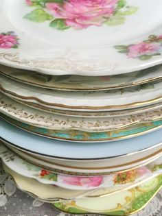 Beautiful vintage salad plates! - Southern Vintage Table