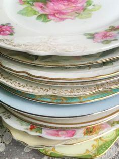 Beautiful vintage salad plates! - Southern Vintage Table