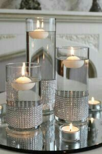 23 Beste Diamant Thema Partei - Diamond Party # Look into our large choice of women's jewelry Winter Table Centerpieces, Floating Candle Centerpieces, Wedding Table Centerpieces, Wedding Decorations, Mirror Centerpiece, Graduation Centerpiece, Quinceanera Centerpieces, Centerpiece Flowers, Centerpiece Ideas