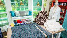 Cozy up this winter w/ a DIY Braided Blanket from @paigehemmis!