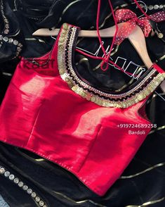 Jewellery For Lady - Indian Bridal Party, Hand Work Design, Hand Work Blouse, Navratri Special, Stylish Blouse Design, Saree Blouse Designs, Indian Fashion, Beautiful, Dresses For Work