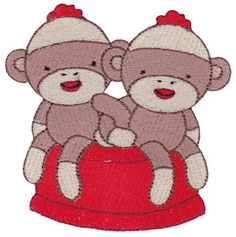 Bunnycup Embroidery | Free Machine Embroidery Designs | Sock Monkeys SET or individual designs