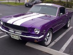 "From ""Purple Everything"". A purple Mustang! Purple Stuff, Purple Love, All Things Purple, Shades Of Purple, Deep Purple, Pink Purple, Purple Cars, My Dream Car, Dream Cars"