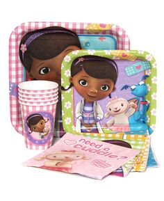 ~ Birthday Dinner Party Supplies Tableware DOC MCSTUFFINS SMALL PAPER PLATES 8