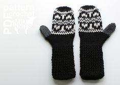 Ravelry: Fair Isle Crochet Hills Mittens (2016005) pattern by Erin Black