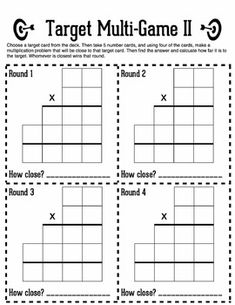 Task cards, Student engagement and Multiplication on PinterestTarget Multi-Game: Multi-Digit Multiplication Estimation & Practice Game $3.95